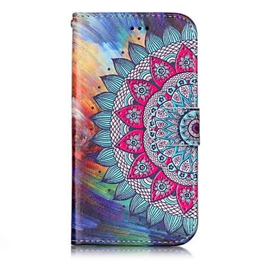 hoesje Voor Samsung Galaxy Kaarthouder Portemonnee met standaard Flip Magnetisch Patroon Reliëfopdruk Volledig hoesje Mandala Hard