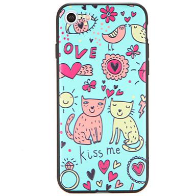 Pentru Carcase Huse Model Carcasă Spate Maska Pisica Greu PC pentru AppleiPhone 7 Plus iPhone 7 iPhone 6s Plus iPhone 6 Plus iPhone 6s