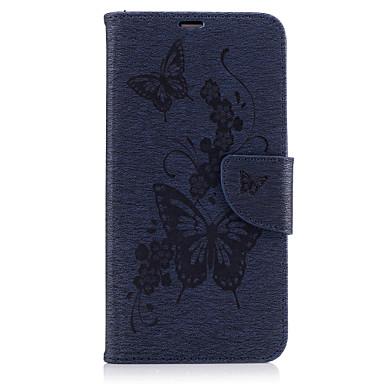 Maska Pentru Huawei P9 Lite Huawei Titluar Card Portofel Cu Stand Întoarce Embosat Carcasă Telefon Fluture Greu PU piele pentru P10