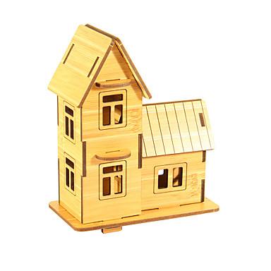 Zabawki 3D Puzzle Model Bina Kitleri Dom 3D Zabawa Drewniany Klasyczny