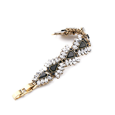 Kadın's Zincir & Halka Bileklikler Mücevher Arkadaşlık Moda alaşım Oval Shape Triangle Shape Mücevher Uyumluluk Parti Doğumgünü