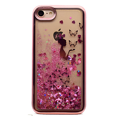 Voor iphone 7 plus 7 tpu materiaal plating laser carving quicksand telefoon hoesje 6s plus 6 plus 6s 6 se 5s 5