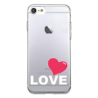 Na Etui Pokrowce Ultra cienkie Wzór Etui na tył Kılıf Napis Miękkie Poliuretan termoplastyczny na Apple iPhone 7 Plus iPhone 7 iPhone 6s