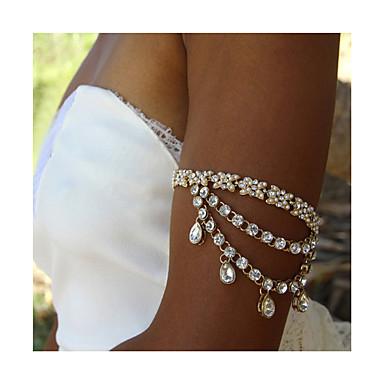 لؤلؤ سلسلة الجسم / سلسلة البطن - لؤلؤ تقليدي عقدة موضة للمرأة ذهبي / فضي مجوهرات الجسم من أجل فضفاض / حجر الراين