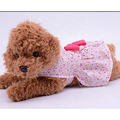 كلب الفساتين ملابس الكلاب جميل كاجوال/يومي موضة زهور أرجواني أزرق زهري كوستيوم للحيوانات الأليفة