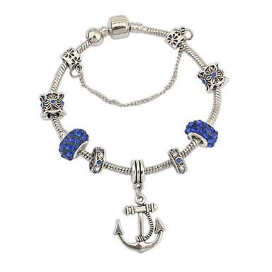 economico Bracciali-Per donna Braccialetto con perline Acquario Di tendenza Gemme Gioielli braccialetto Blu Per Feste Occasioni speciali Regalo / Strass