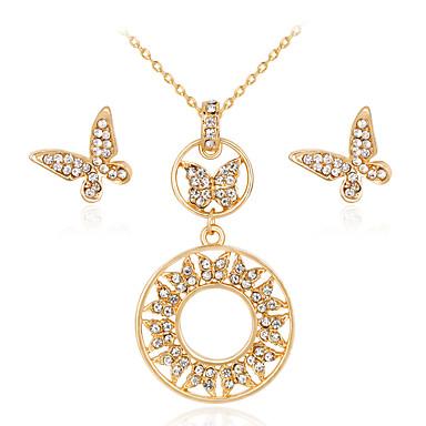 Damen Halskette / Ohrringe Euramerican Modisch Hochzeit Party Jahrestag Verlobung Geschenk Alltag Aleación Geometrische Form 1 Halskette
