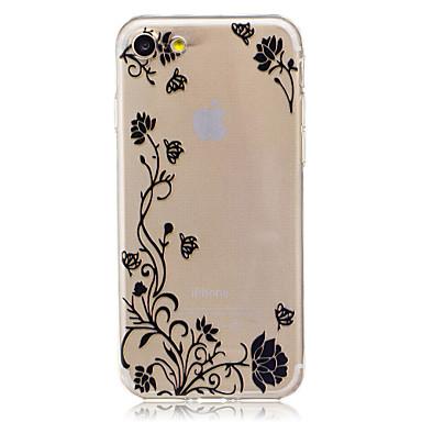 Για Θήκες Καλύμματα Διαφανής Με σχέδια Πίσω Κάλυμμα tok Λουλούδι Πεταλούδα Μαλακή TPU για AppleiPhone 7 Plus iPhone 7 iPhone 6s Plus