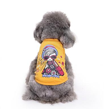 القطط الكلاب T-skjorte سترة ملابس الكلاب الصيف أميرة جميل موضة كاجوال/يومي