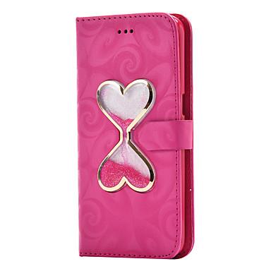Hülle Für Samsung Galaxy S8 Plus S8 Kreditkartenfächer Geldbeutel mit Halterung Mit Flüssigkeit befüllt Flipbare Hülle Magnetisch