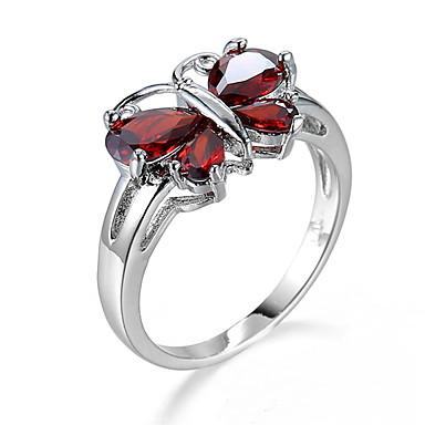 Dames Ring Kubieke Zirkonia Uniek ontwerp Modieus Euramerican Zirkonia Legering Sieraden Sieraden Voor Feest Verjaardag Feest/Avond
