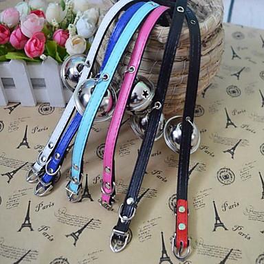 Haustier Glocken Halsbänder adorable Haustiere Glocken Hunde Katzen PU Halsketten Halskette