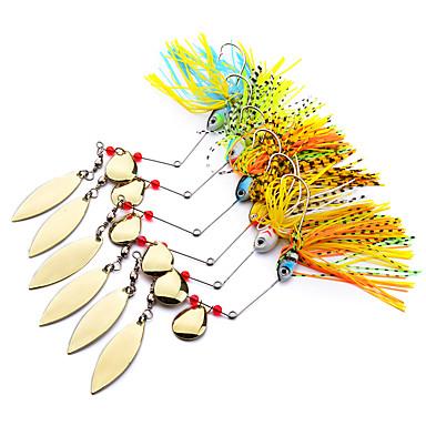 6 stk Metalen Aas Spinner Model Lokaas Buzzbait & spinnerbait kunstaas Metalen Aas Buzzbait & spinnerbait kunstaas g / Ons mm duim, Lood