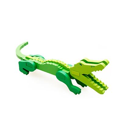 Puzzle 3D Modele de Lemn Crocodil Animal Distracție Lemn Clasic