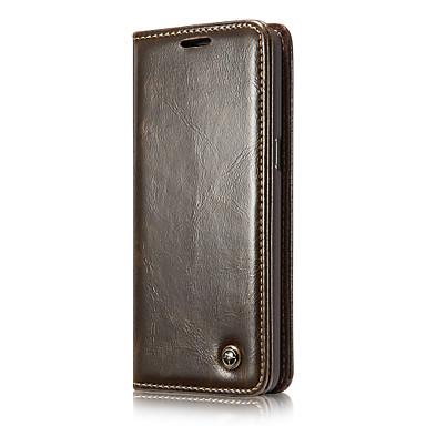 غطاء من أجل Samsung Galaxy S8 Plus S8 محفظة حامل البطاقات مع حامل قلب كامل الجسم لون الصلبة قاسي جلد أصلي إلى S8 S8 Plus S7 edge S7 S6