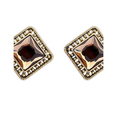 للرجال للمرأة أقراط قطرة مجوهرات الماس الاصطناعية مخصص قديم أساسي مثيرة موضة اسلوب لطيف euramerican في زجاج سبيكة مربع أخرى مجوهرات زفاف