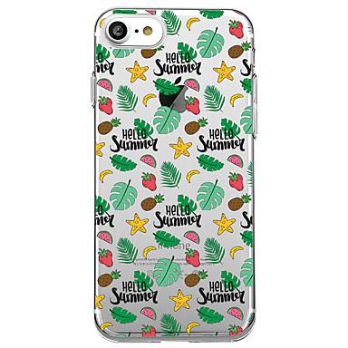 Hülle Für Apple iPhone 7 Plus iPhone 7 Transparent Muster Rückseite Frucht Weich TPU für iPhone 7 Plus iPhone 7 iPhone 6s Plus iPhone 6s