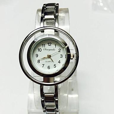 Damen Totenkopfuhr Armbanduhr Armband-Uhr Chinesisch Quartz Legierung Band Glanz Bettelarmband Bequem Silber