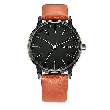 levne Pánské-REBIRTH Pánské Náramkové hodinky Křemenný Nerez Černá Voděodolné Cool Analogové Klasické Módní Aristo Jednoduché hodinky - černá / oranžová Oranžová / bílá Černá / Bílá