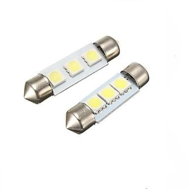 2pcs Festoon Carro Lâmpadas 2 W SMD 5050 60 lm Iluminação interior