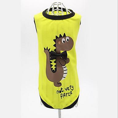 Hund Weste Hundekleidung Lässig/Alltäglich Cartoon Design Gelb Grün Kostüm Für Haustiere
