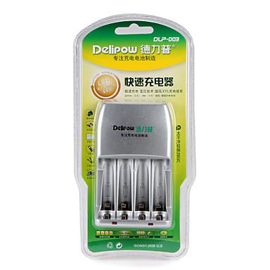 Delipow batterij snel oplader geschikt voor aa / aaa nikkel-metaal hydride nikkel-chroom oplaadbare batterij