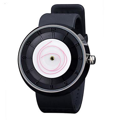 Heren Modieus horloge Kwarts Waterbestendig Rubber Band Zwart