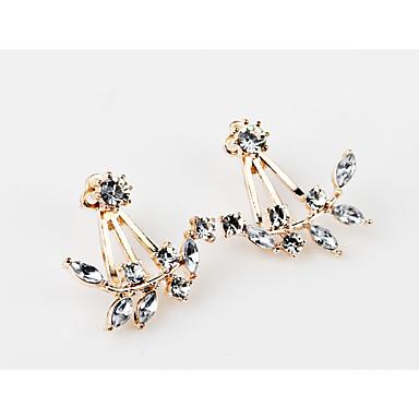 Damen Synthetischer Diamant Ohrstecker - Blume Personalisiert, Geometrisch, Einzigartiges Design Gold / Silber / Rotgold Für Weihnachts