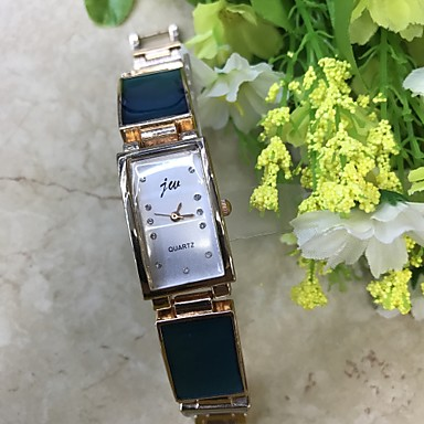للمرأة ساعه اسورة ساعةألماسيمهئيأ صيني كوارتز / تقليد الماس أشابة فرقة عادية ذهبي روزي