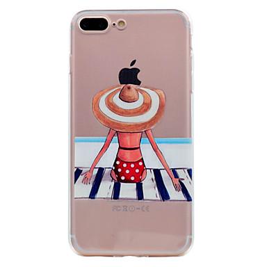 Pentru iphone 7 plus 7 caz telefon tpu material vis fată telefon serie caz 6s plus 6 plus 6s 6 5s 5 se