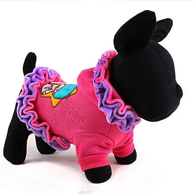 Hund Mäntel Krawatte/Fliege Hundekleidung Klassisch Niedlich Lässig/Alltäglich Modisch Karton Purpur Rosa Kostüm Für Haustiere