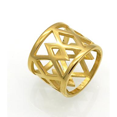 Bărbați Pentru femei Verighete Inele Afirmatoare Inel Bijuterii Design Circular Design Unic Geometric La modă Vintage Personalizat Stâncă