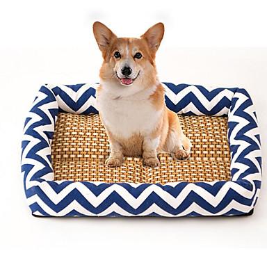 Pisici Câine Paturi Animale de Companie  Rogojini & Pernuțe Dungi Respirabil Απαλό Elastic Durabil Portocaliu Albastru Închis Albastru