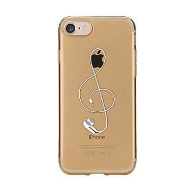 Maska Pentru Apple iPhone X iPhone 8 Transparent Model Capac Spate Desene Animate Moale TPU pentru iPhone X iPhone 8 Plus iPhone 8 iPhone