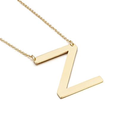 للمرأة قلائد الحلي Alphabet Shape الفولاذ المقاوم للصدأ الصداقة موضة مجوهرات الأولية مجوهرات من أجل حزب عيد ميلاد تخرج شكرا لك هدية يوميا