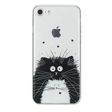 Pentru iPhone X iPhone 8 Carcase Huse Model Carcasă Spate Maska Pisica Animal Moale TPU pentru Apple iPhone X iPhone 8 Plus iPhone 8