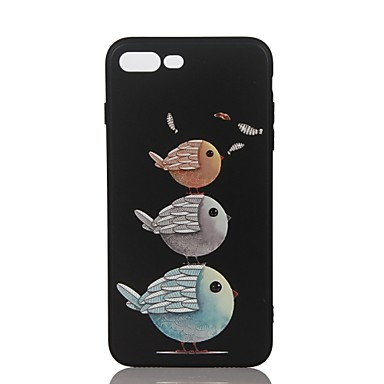 Voor Hoesje cover Reliëfopdruk Patroon Achterkantje hoesje dier Zacht TPU voor Apple iPhone 7 Plus iPhone 7 iPhone 6s Plus iPhone 6 Plus