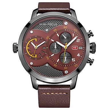 Bărbați Ceas Elegant Ceas La Modă Quartz Piele Autentică Bandă Casual Luxos Negru Maro
