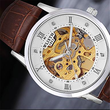 Bărbați Ceas de Mână Ceas La Modă Quartz cald Vânzare Piele Bandă Casual Negru Maro
