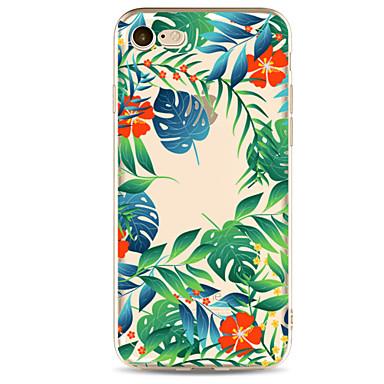 Hülle Für Apple iPhone 7 Plus iPhone 7 Transparent Muster Rückseite Blume Baum Weich TPU für iPhone 7 Plus iPhone 7 iPhone 6s Plus iPhone