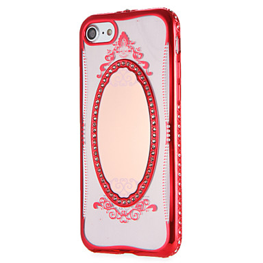 7 Fantasia iPhone Custodia pizzo iPhone 05982759 stampa La Per 7 Morbido A per in iPhone 7 specchio Apple Glitterato TPU retro Plus disegno Per BrrTFW
