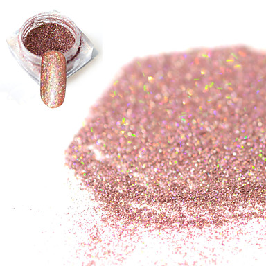 1pcs Glitzerpulver / Puder Elegant & Luxuriös / Nagel Glitter / Strahlend & Funkelnd Nagel-Kunst-Design