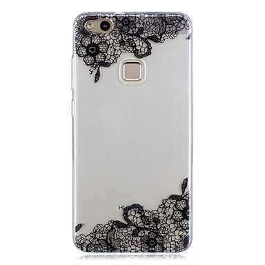 Voor huawei p10 lite p10 case cover patroon achterhoes case kant print soft tpu