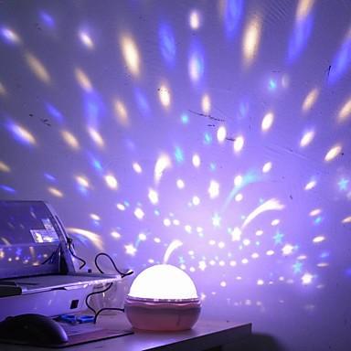 1pc Muster ist gelegentliche ursprüngliche artware Nachttischlampe Sternenhimmelprojektion führte Nachtlampe