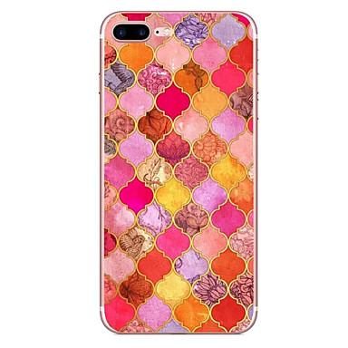 Für Apfel iphone 7 7 plus 6s 6 plus Fallabdeckung rotes Diamantmuster hd gemaltes tpu materielles weiches Falltelefonkasten