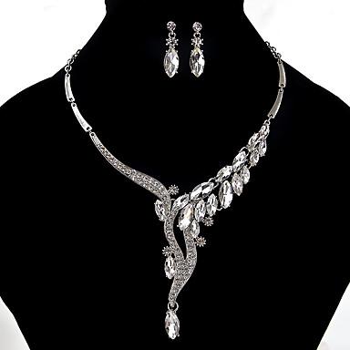 Dames Sieraden Set Bergkristal Uniek ontwerp Euramerican Feest Causaal Legering Kogelvorm