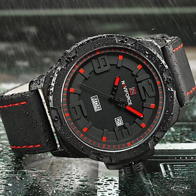 NAVIFORCE Bărbați Quartz Ceas de Mână Ceas Militar  Ceas Sport Japoneză Calendar Mare Dial Silicon Bandă Lux Creative Casual Elegant Modă