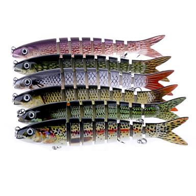 6 Stück Jerkbaits kleiner Fisch g/Unze mm/7-3/4