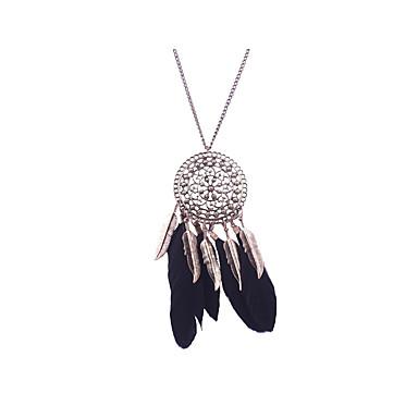 Damen Statement Ketten - Personalisiert, Einzigartiges Design, Quaste Schwarz, Dunkelblau Modische Halsketten Für Weihnachts Geschenke,