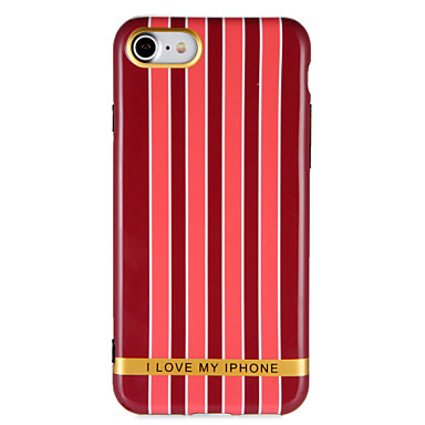 Hülle Für Apple iPhone 7 Plus iPhone 7 IMD Muster Rückseite Linien / Wellen Wort / Satz Weich TPU für iPhone 7 Plus iPhone 7 iPhone 6s